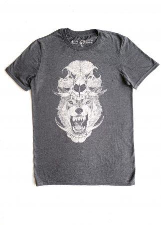Skullhead Men's Grey Tee