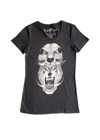 Skullhead Women's Black Tee