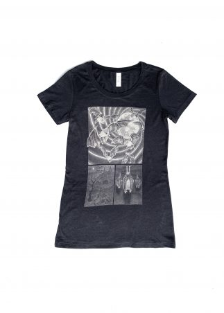 Bat Women's Black Tee