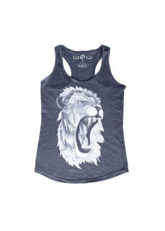 Lion Women's Grey Tank