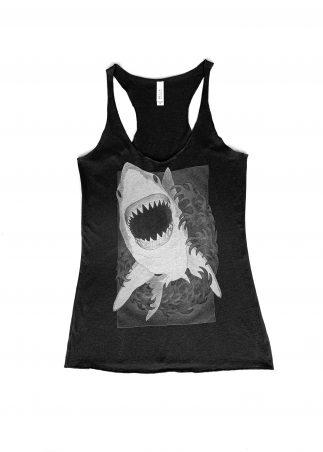 Shark Women's Black Tank