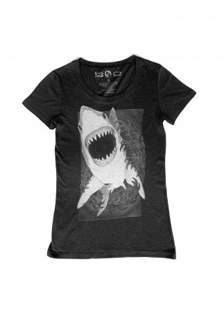 Shark Women's Black Tee