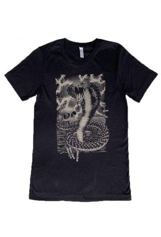 Snake, Men's Black Tee-WBG