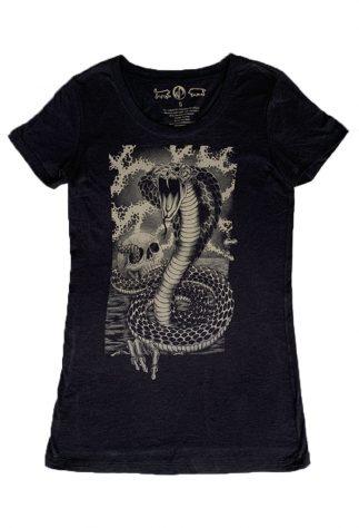 Snake Women's Black Tee